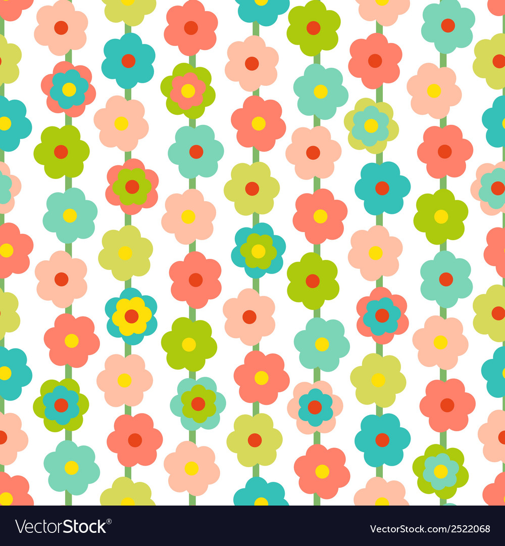 Retro seamless pattern with small flowers vector | Price: 1 Credit (USD $1)