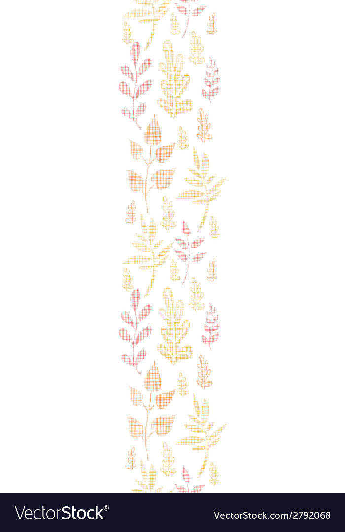 Textile textured fall leaves vertical seamless vector | Price: 1 Credit (USD $1)