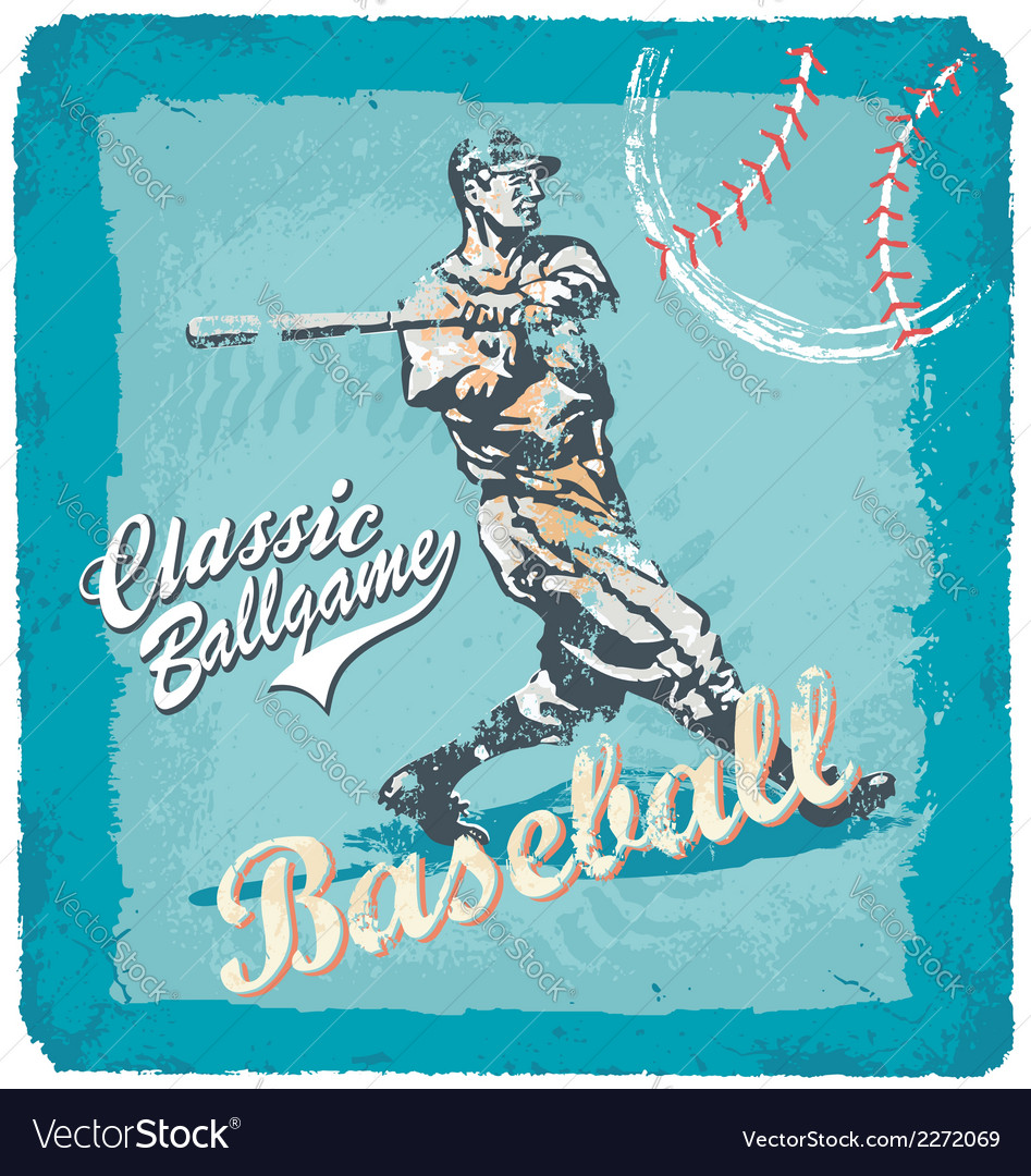 Baseball classic batter vector | Price: 3 Credit (USD $3)
