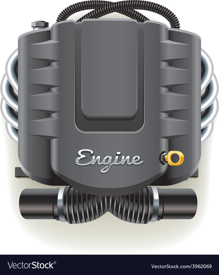 Engine with cover vector | Price: 3 Credit (USD $3)