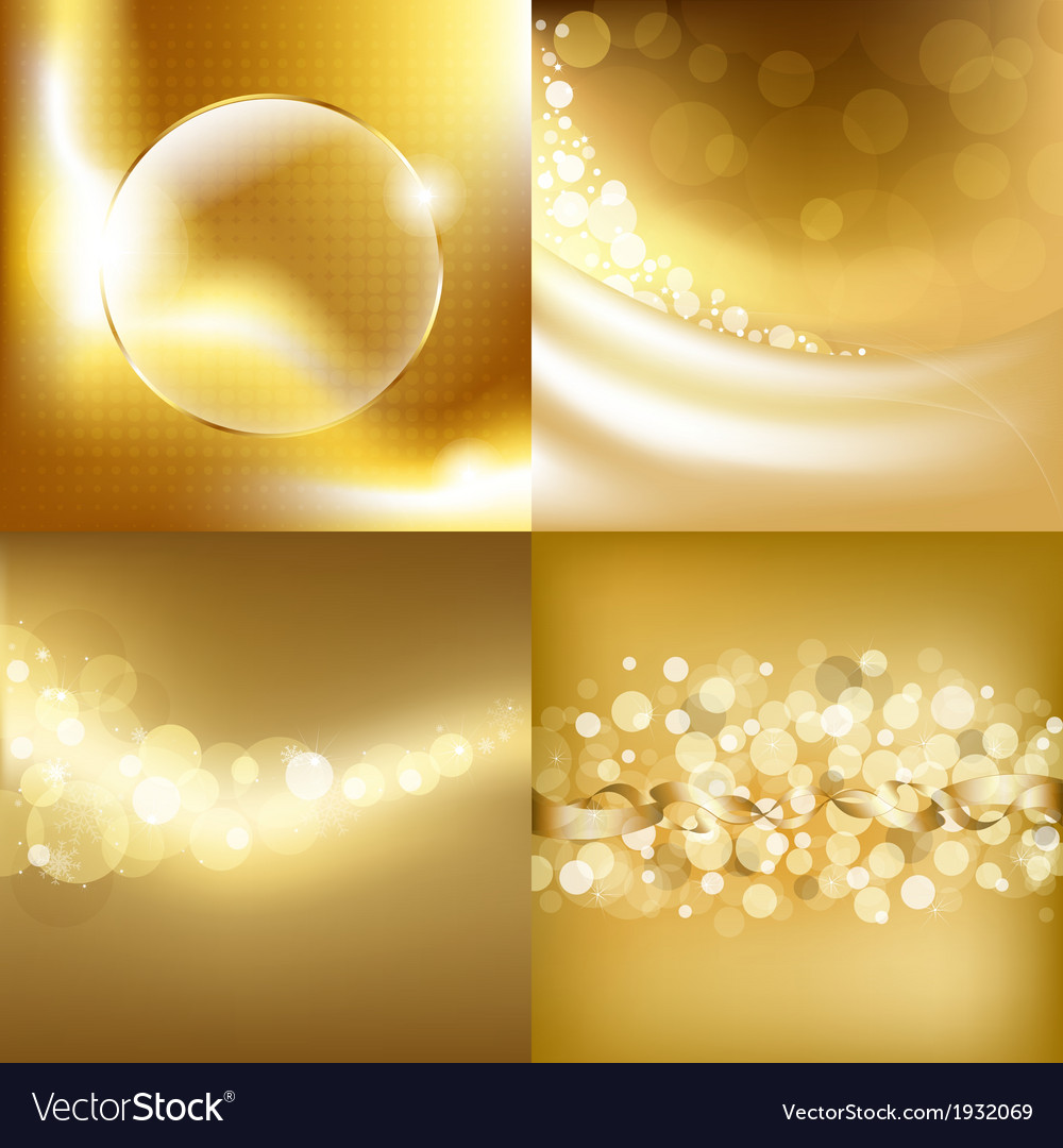 Gold backgrounds set vector | Price: 1 Credit (USD $1)