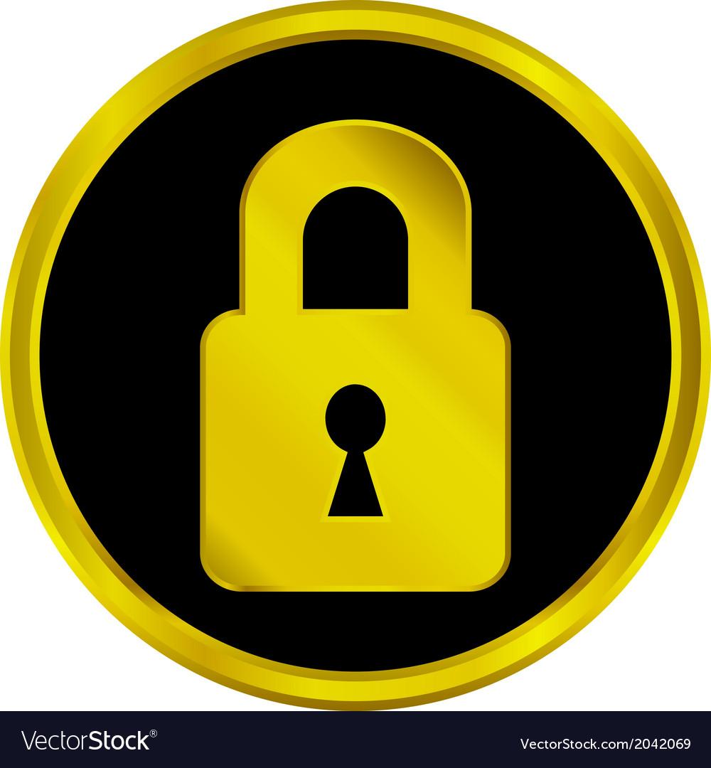 Lock button vector | Price: 1 Credit (USD $1)