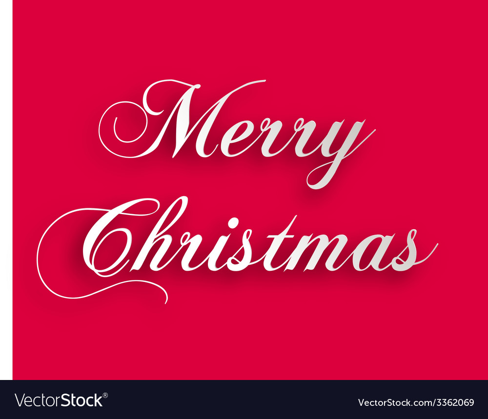Merry christmas paper style vector | Price: 1 Credit (USD $1)