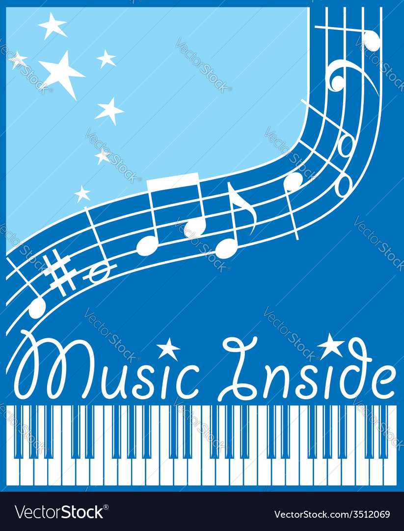 Music inside flat vector | Price: 1 Credit (USD $1)