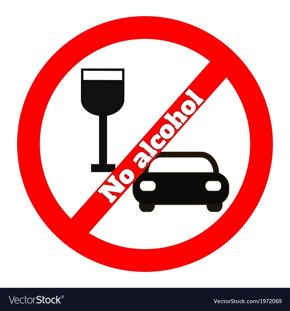 No alcohol icon vector | Price: 1 Credit (USD $1)