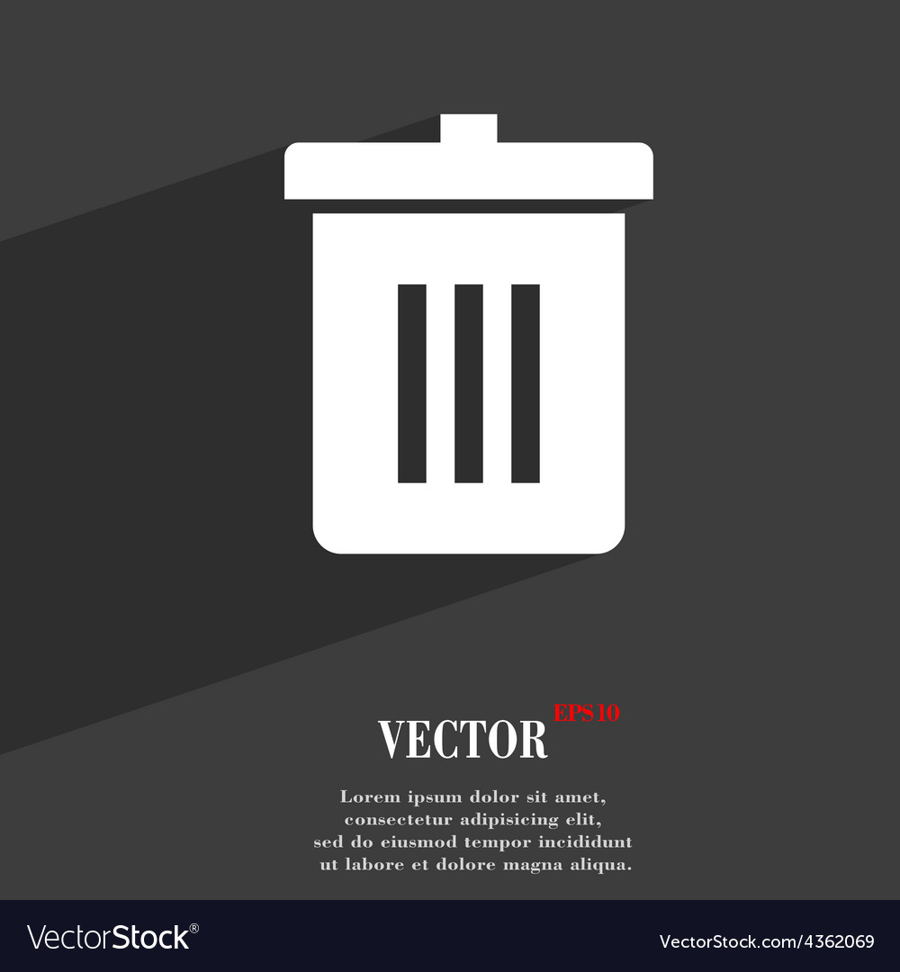 Recycle bin reuse or reduce icon symbol flat vector | Price: 1 Credit (USD $1)