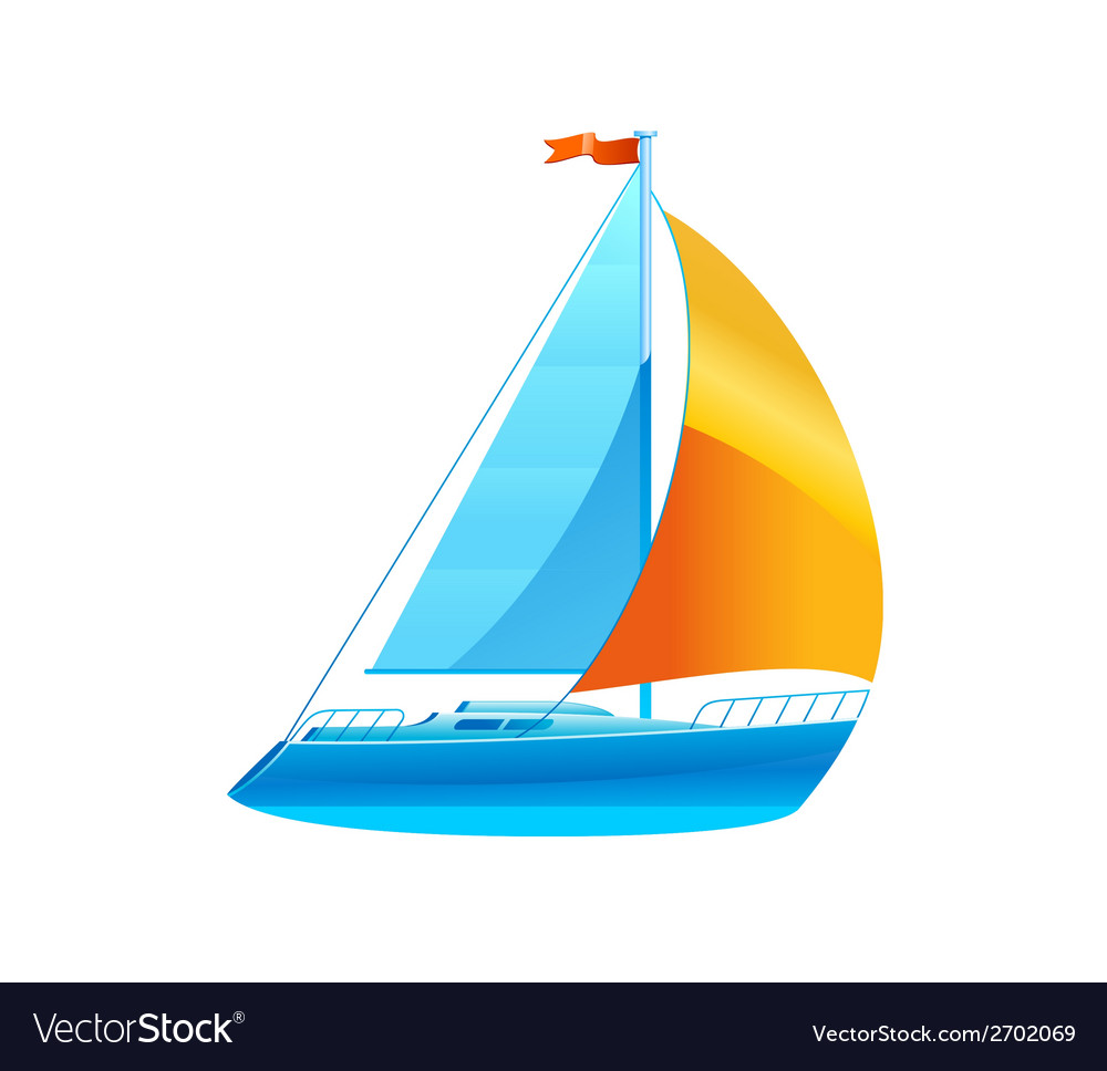 Sailboat sailing icon vector | Price: 1 Credit (USD $1)