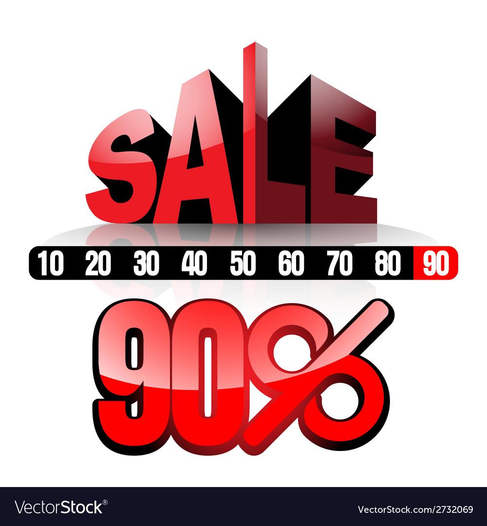 Sale 90 vector | Price: 1 Credit (USD $1)