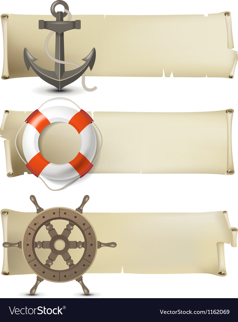 Sea banners vector | Price: 1 Credit (USD $1)