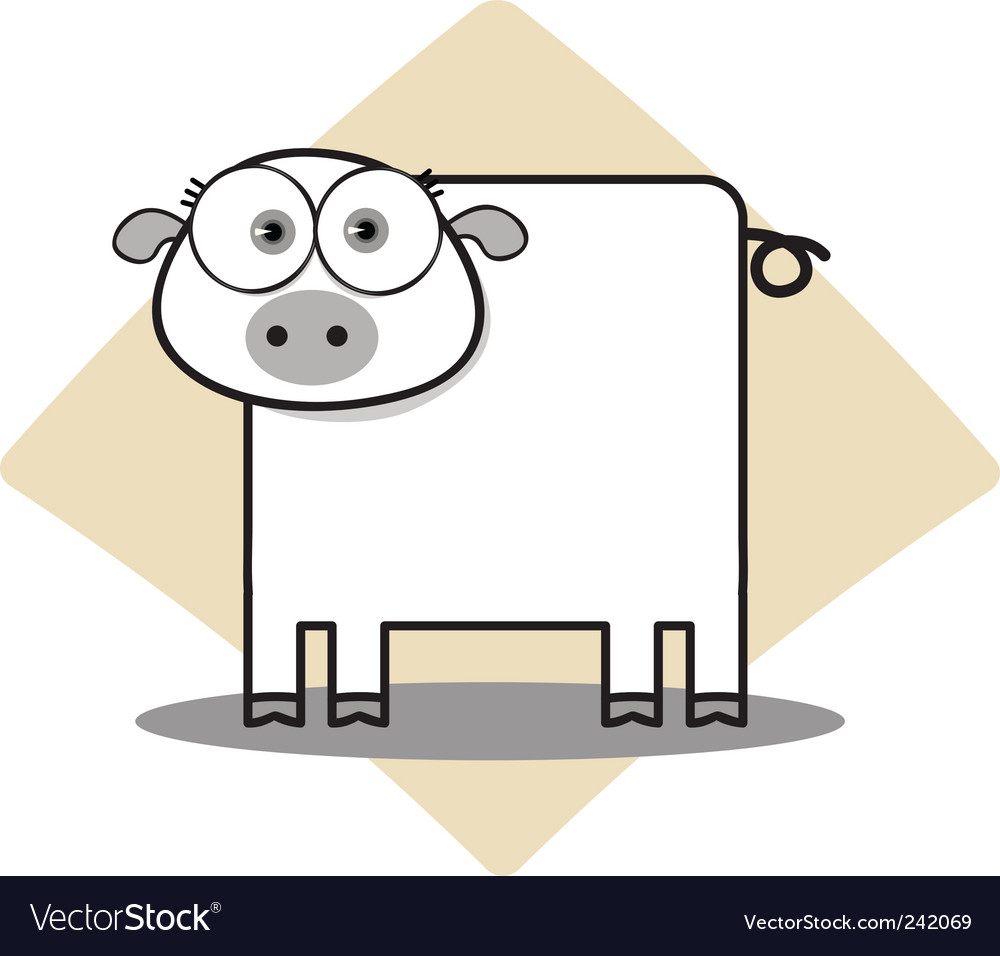 Square animal  pig vector   Price: 1 Credit (USD $1)