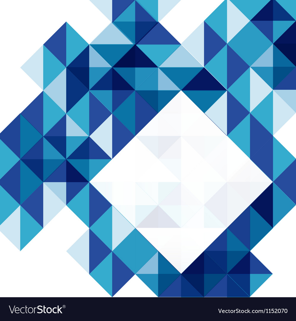 Blue modern geometric design template vector | Price: 1 Credit (USD $1)