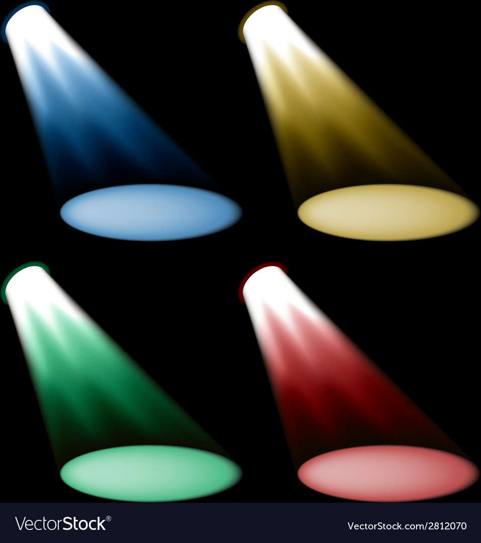 Colored spotlights vector | Price: 1 Credit (USD $1)