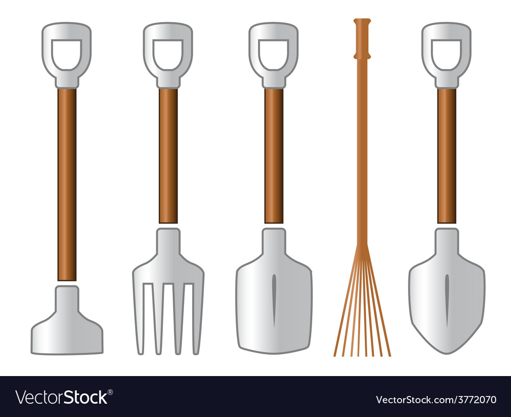 Gardening isolated tools set vector | Price: 1 Credit (USD $1)
