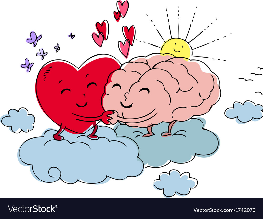 Heart and brain vector | Price: 1 Credit (USD $1)