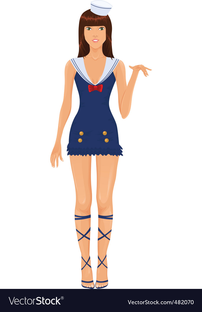 Navy costume vector | Price: 3 Credit (USD $3)