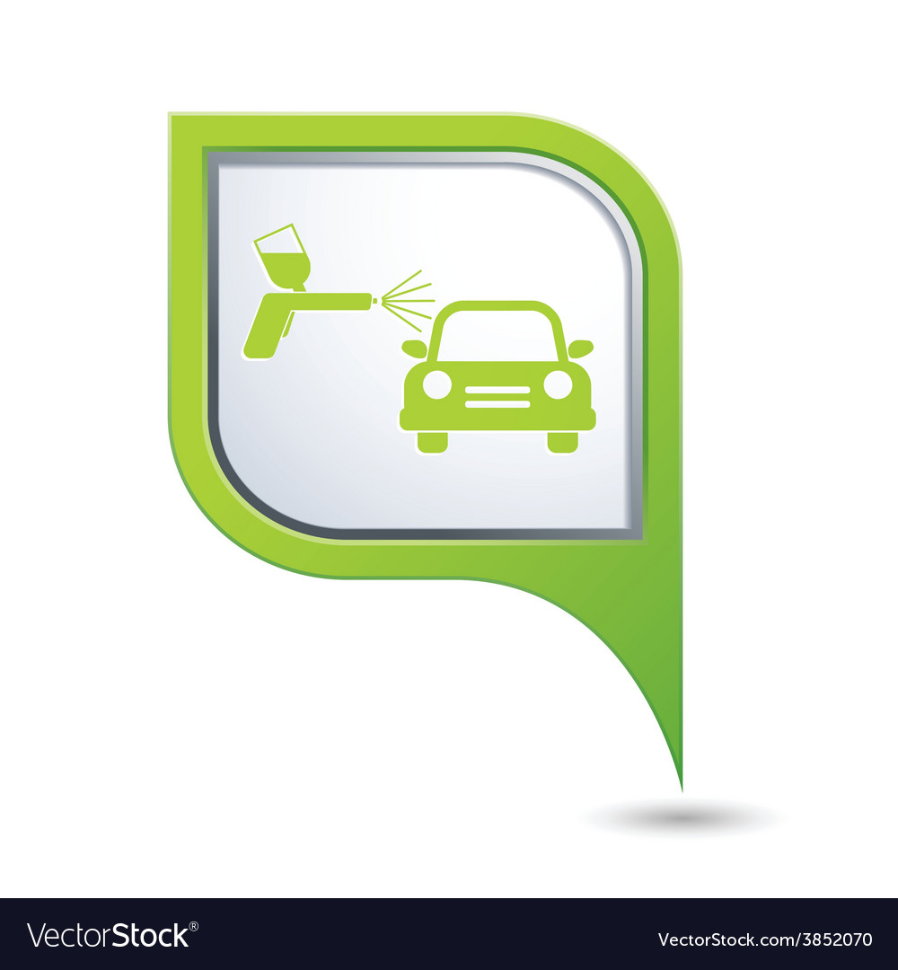 Painting of cars greenpointer vector | Price: 1 Credit (USD $1)