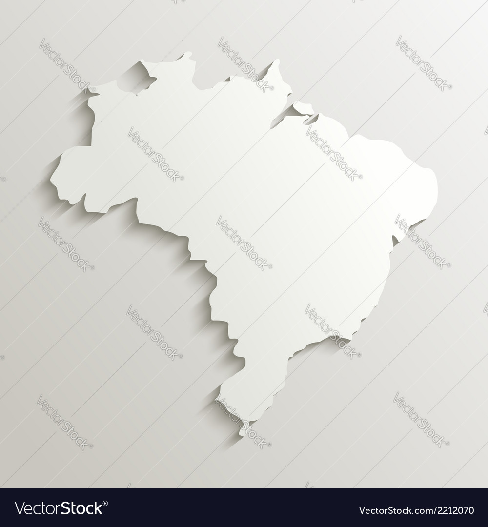 Paper map of brazil vector | Price: 1 Credit (USD $1)