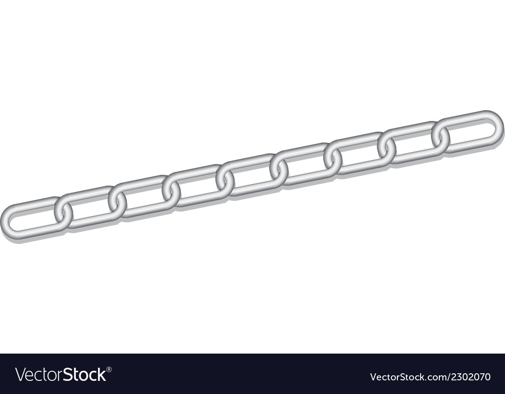 Silver link chains vector | Price: 1 Credit (USD $1)