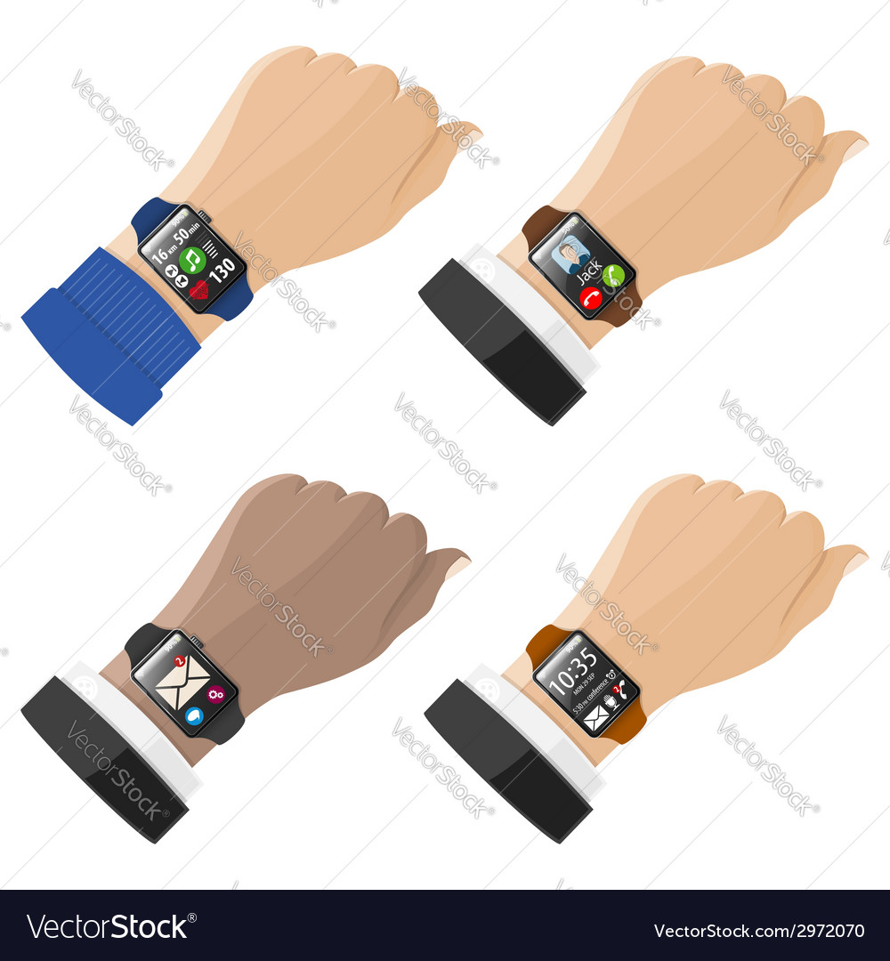 Smart watches vector | Price: 1 Credit (USD $1)