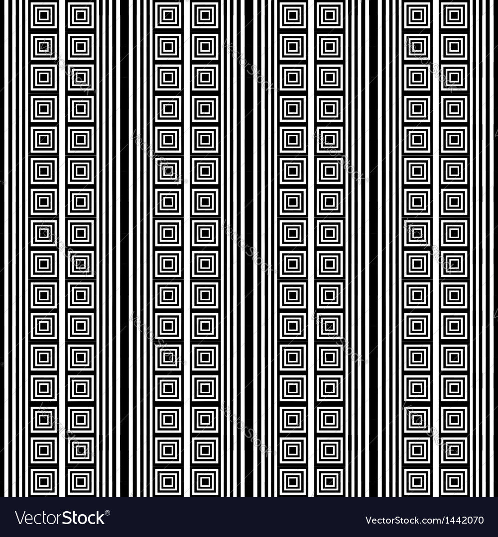 Striped pattern with square elements vector | Price: 1 Credit (USD $1)