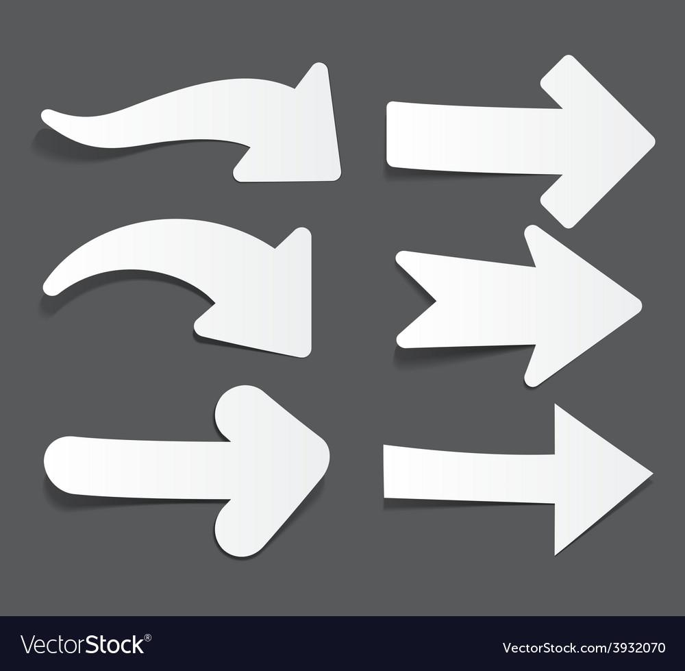 White paper arrows vector | Price: 1 Credit (USD $1)