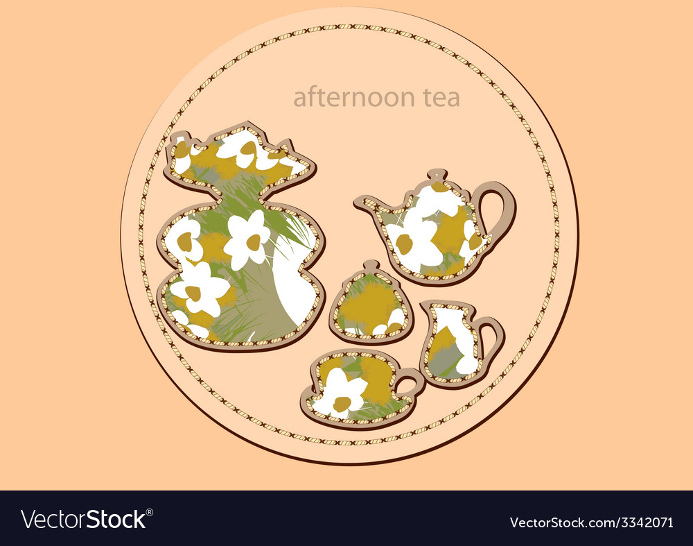 Afternoon tea vector | Price: 1 Credit (USD $1)