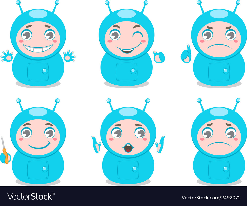 Cute robots vector | Price: 1 Credit (USD $1)