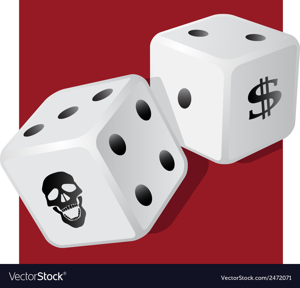 Dangerous dice vector | Price: 1 Credit (USD $1)