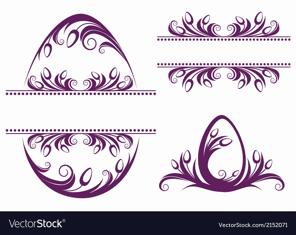 Easter decorative elements vector | Price: 1 Credit (USD $1)