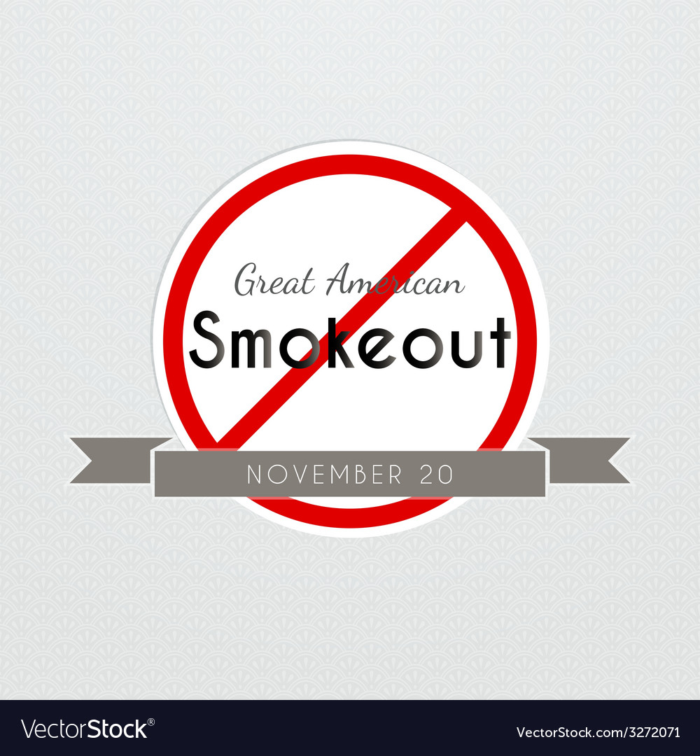 Graet american smokeout poster vector | Price: 1 Credit (USD $1)
