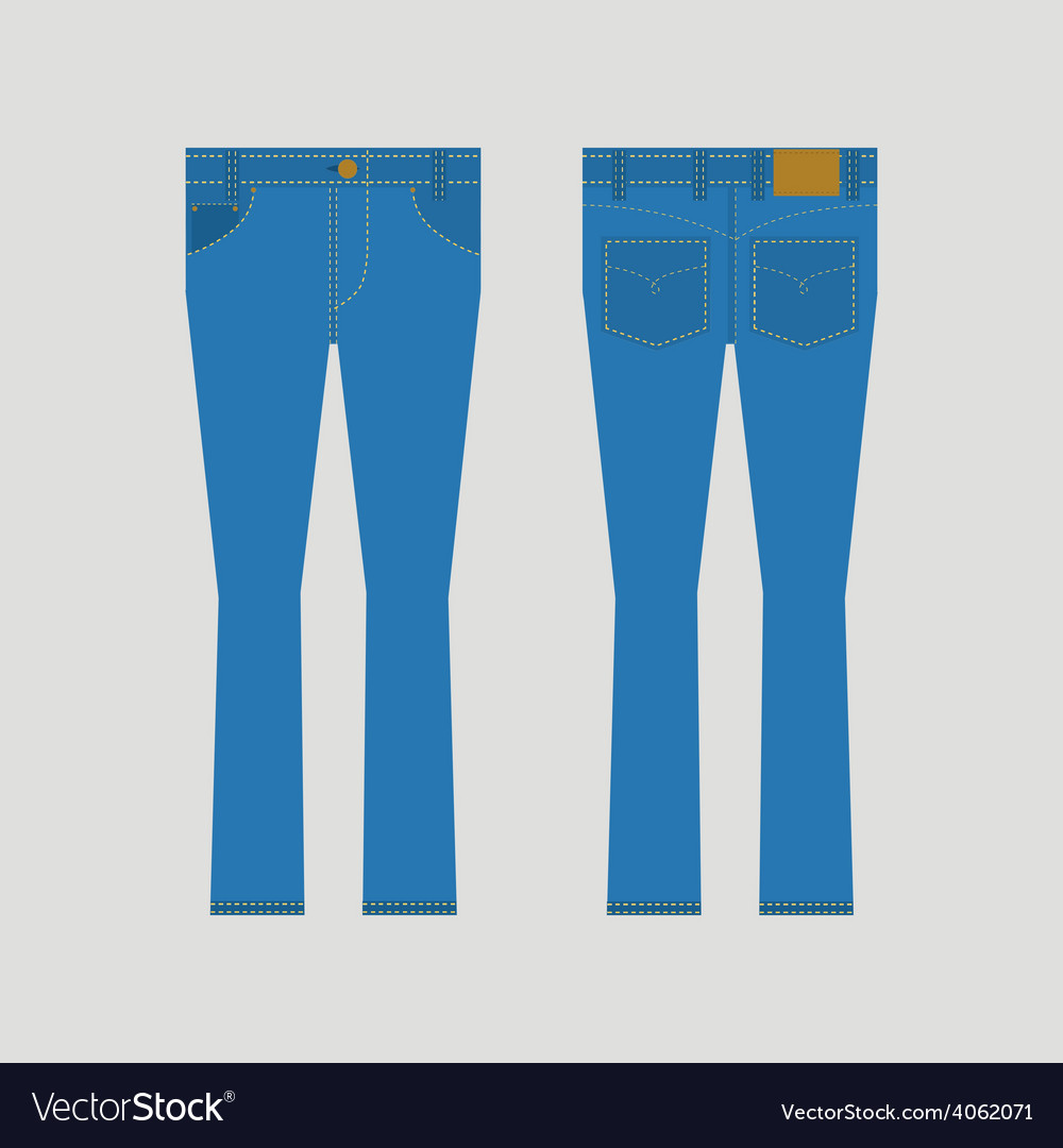 Jeans front and back view vector | Price: 1 Credit (USD $1)