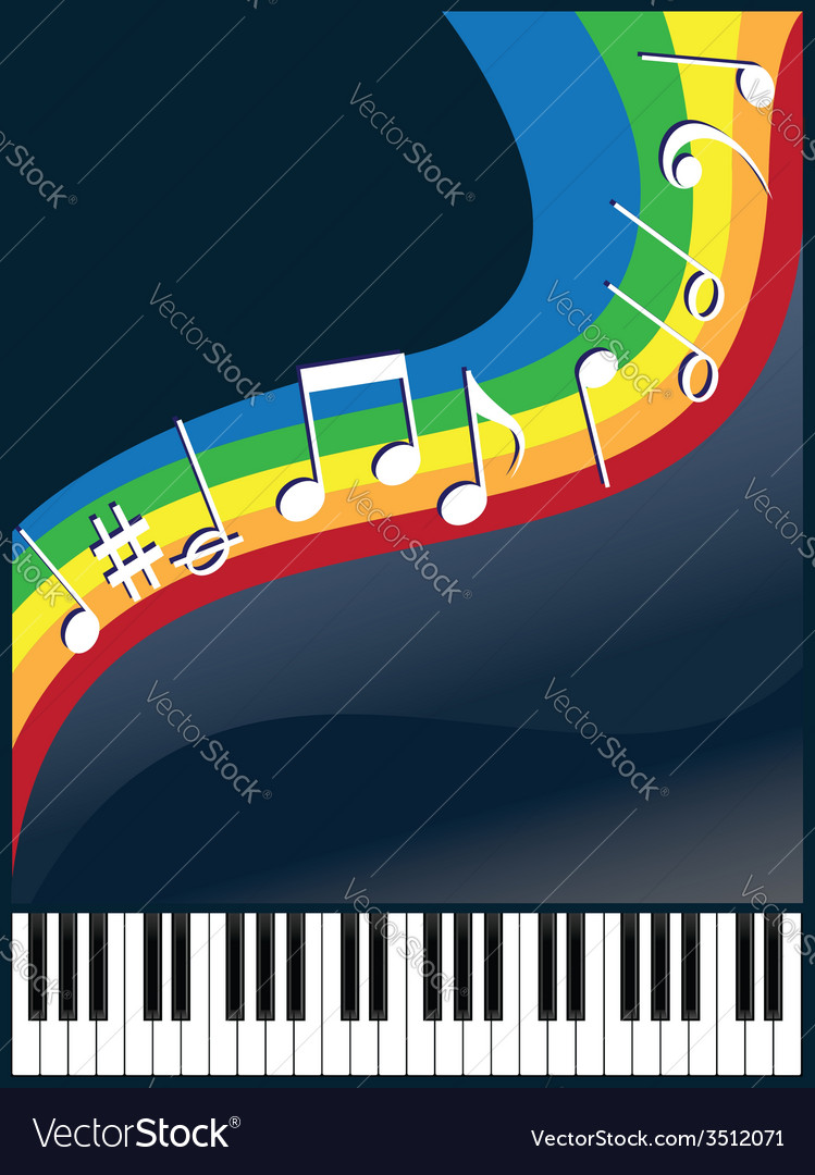 Music like a rainbow vector | Price: 1 Credit (USD $1)