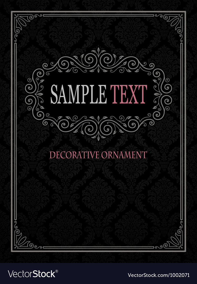 Ornamental frame with seamless pattern vector | Price: 1 Credit (USD $1)