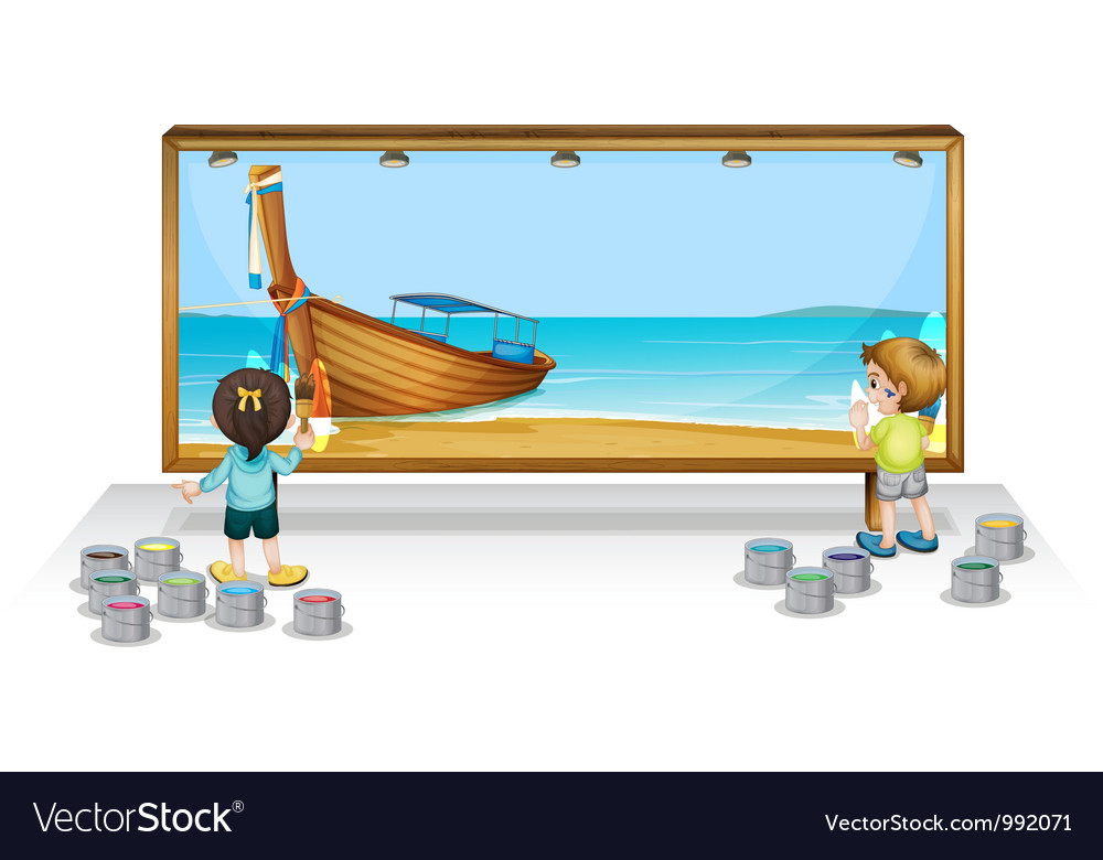 Painting a thai vacation vector | Price: 1 Credit (USD $1)