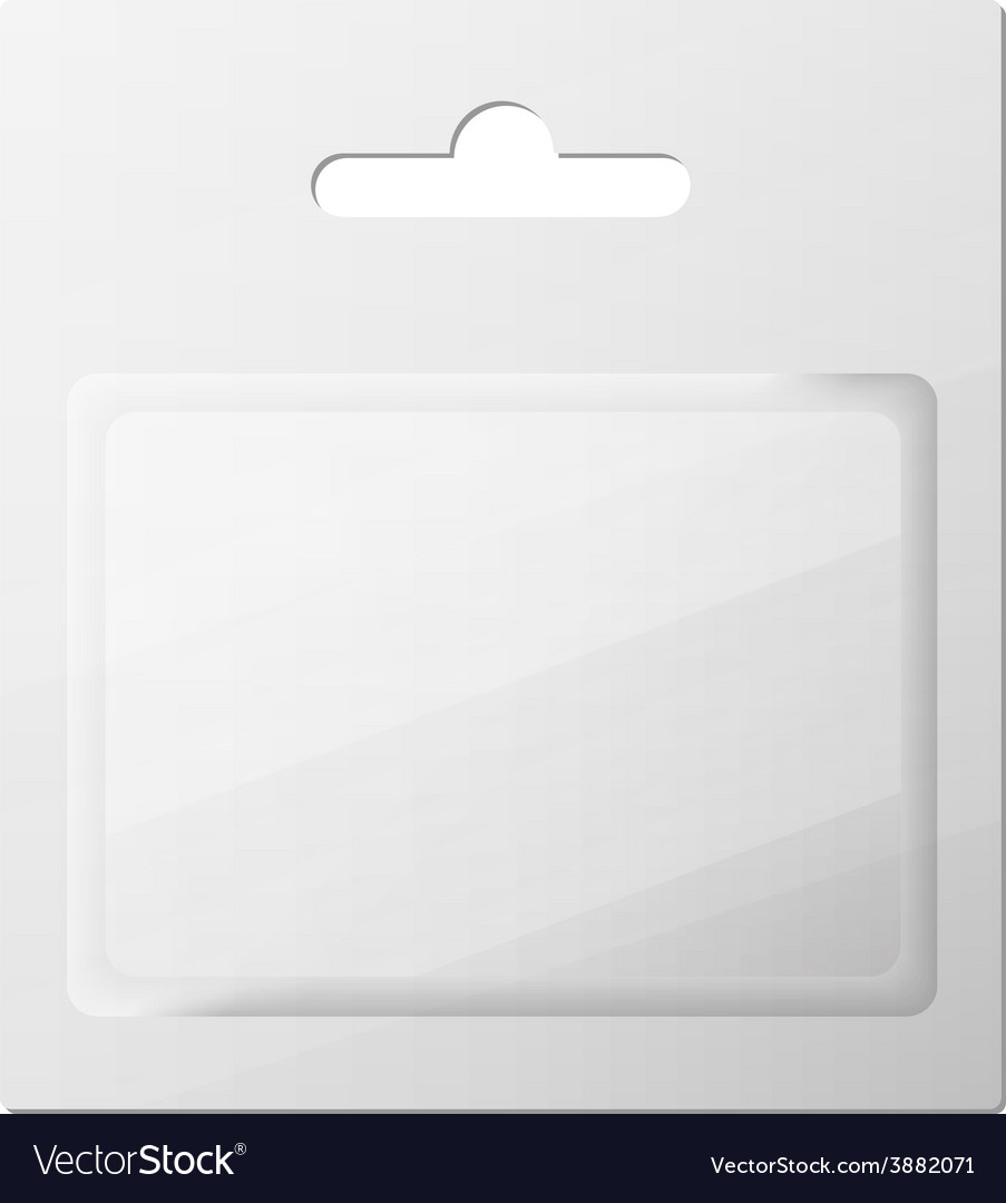 Plastic transparent blister with hang slot product vector | Price: 1 Credit (USD $1)