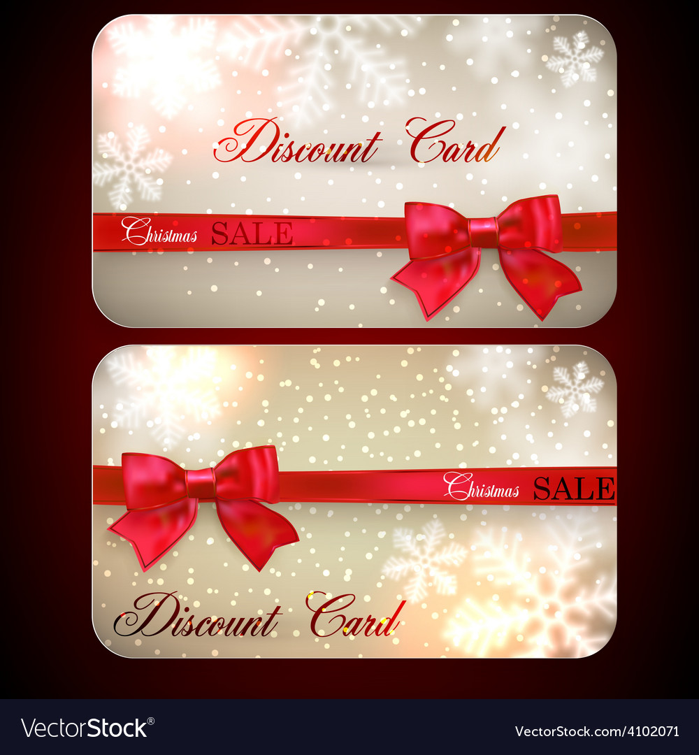 Sale cards with red gift bows vector | Price: 1 Credit (USD $1)