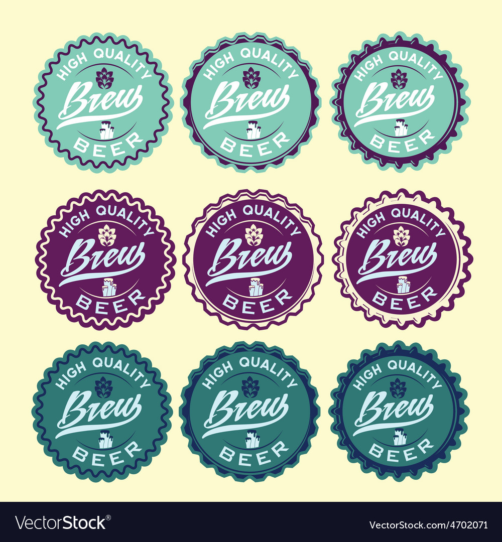 Set of vintage beer labels vector | Price: 1 Credit (USD $1)