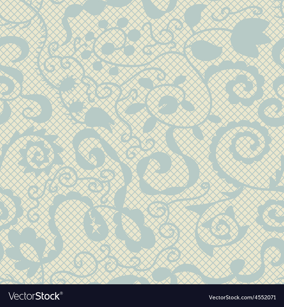 Spring lacy seamless floral pattern vector | Price: 1 Credit (USD $1)