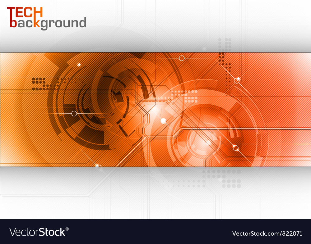 Tech background line red center vector | Price: 1 Credit (USD $1)