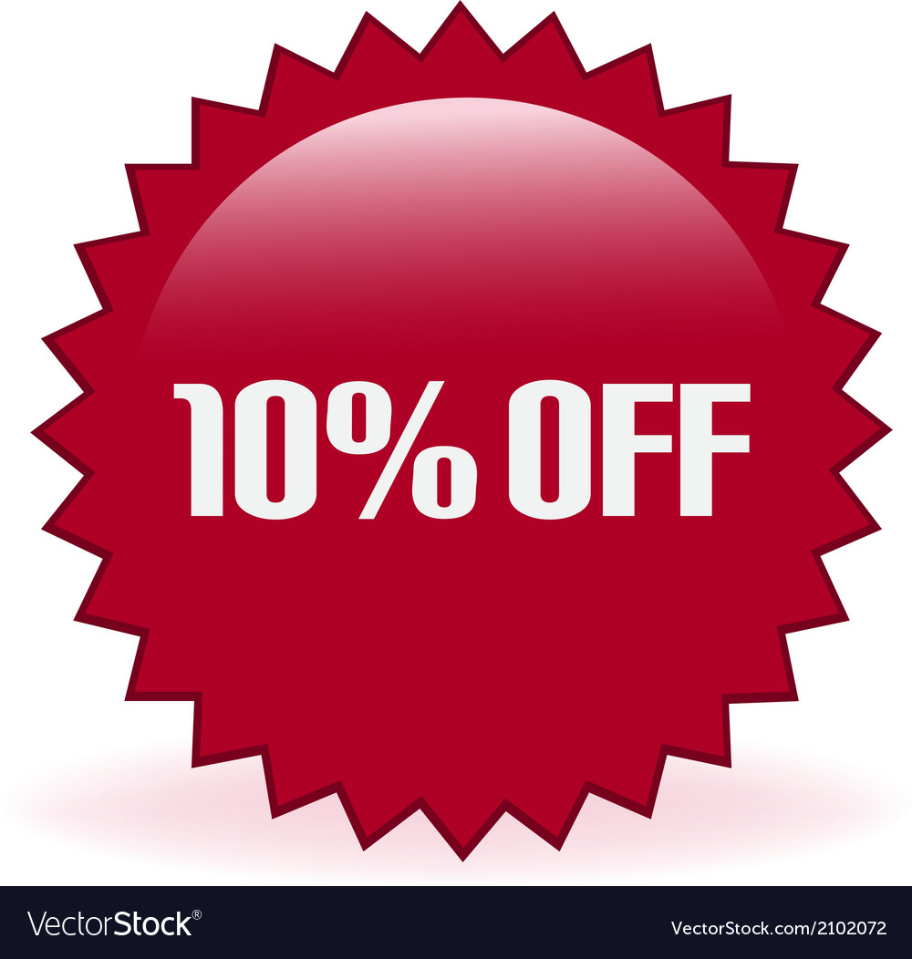 10 off sticker vector