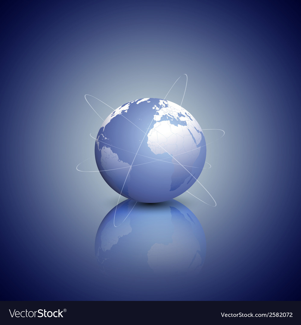 Globe network connections blue design background vector   Price: 1 Credit (USD $1)