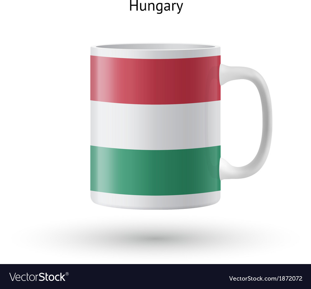 Hungary flag souvenir mug on white background vector | Price: 1 Credit (USD $1)
