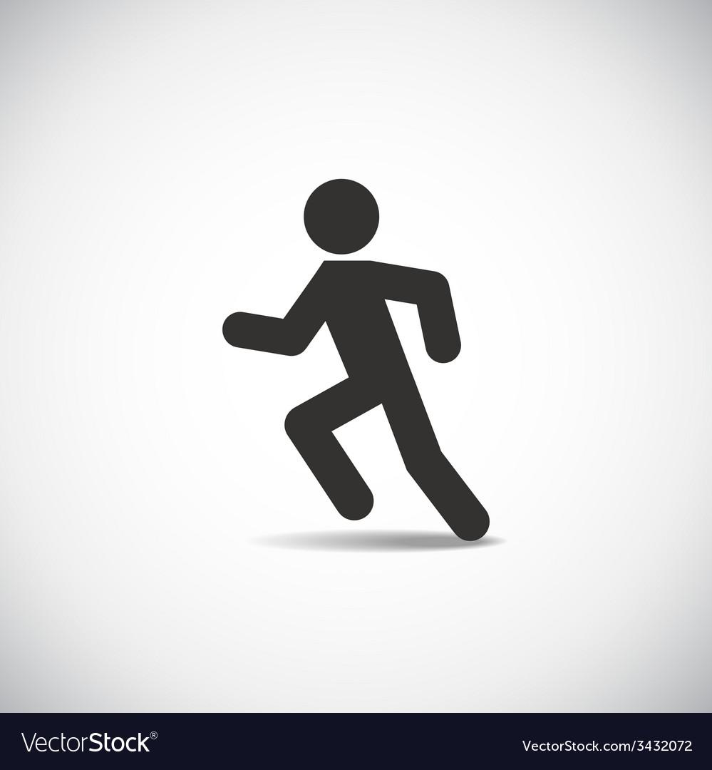 Man running vector | Price: 1 Credit (USD $1)