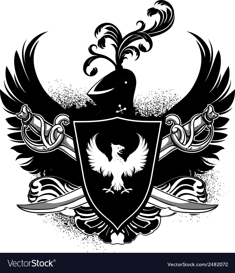 Ornamental shield with arms vector | Price: 1 Credit (USD $1)