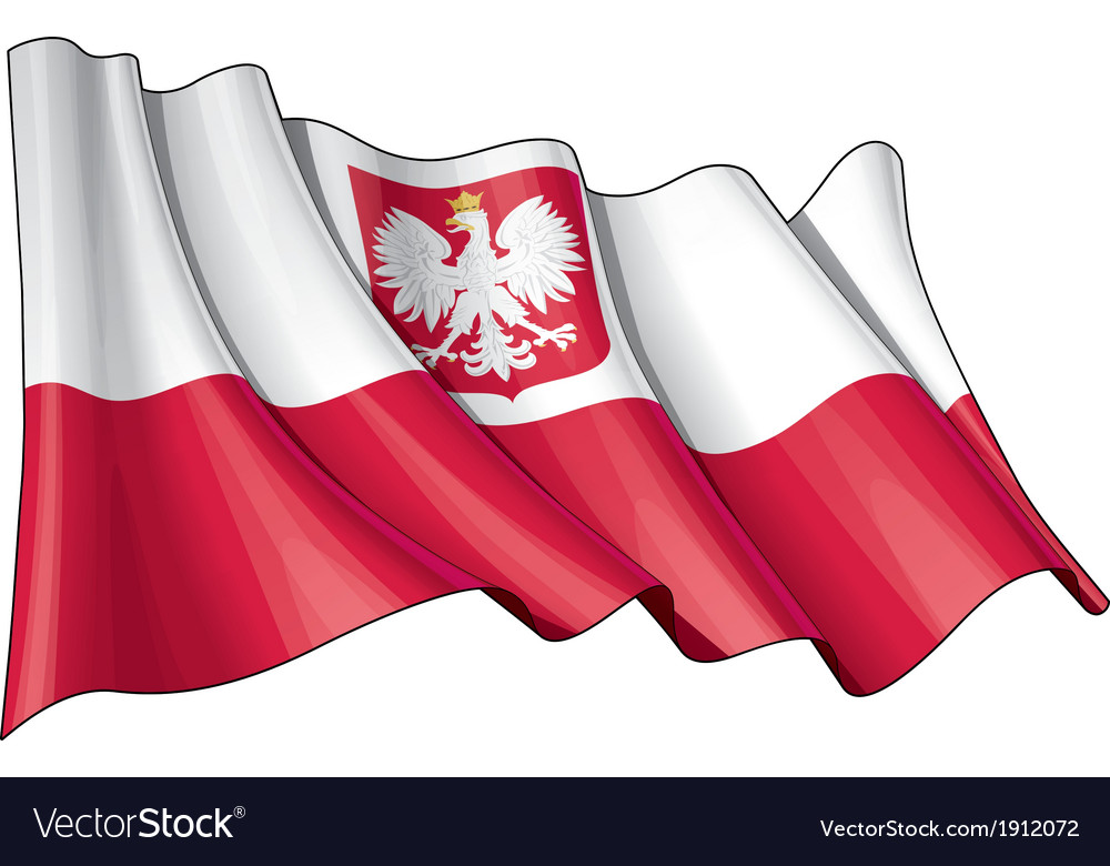 Poland state flag vector | Price: 1 Credit (USD $1)