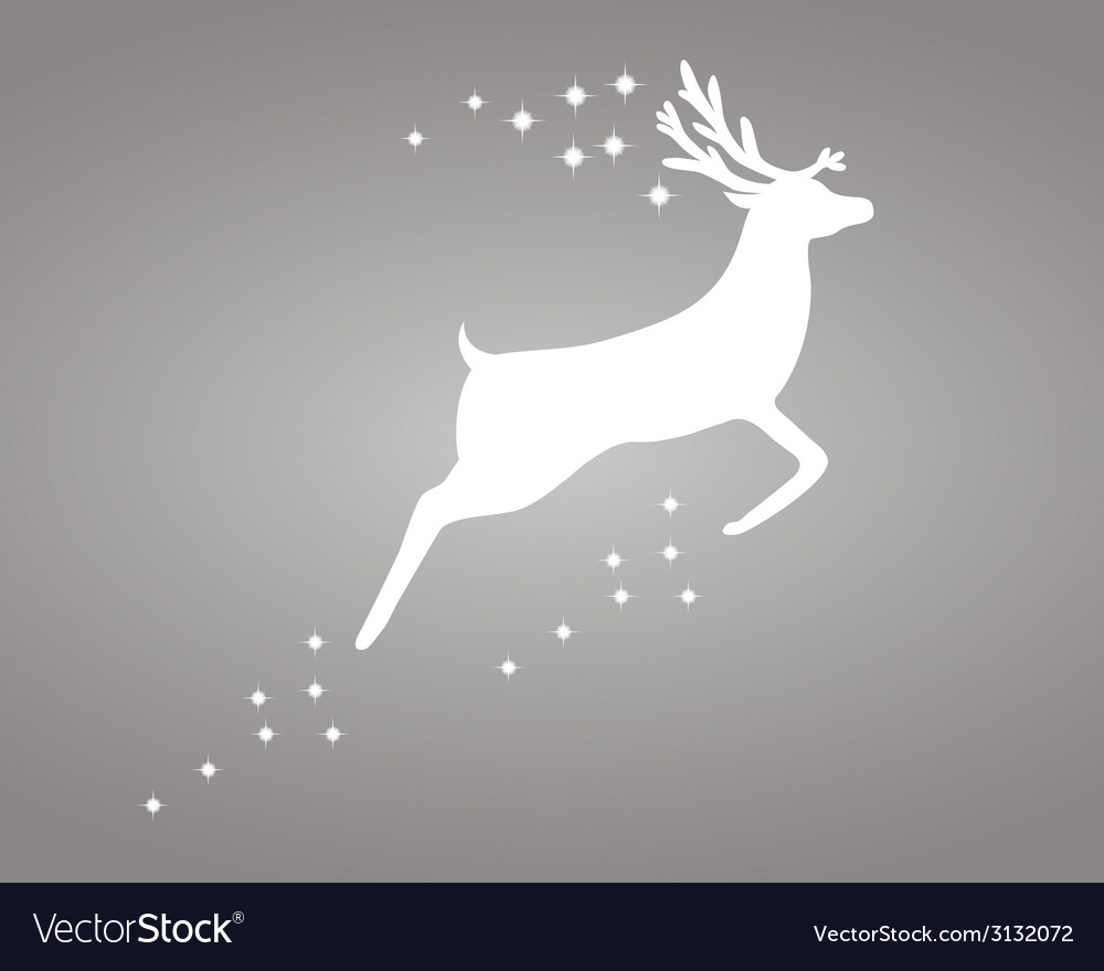 Reindeer with stars vector | Price: 1 Credit (USD $1)