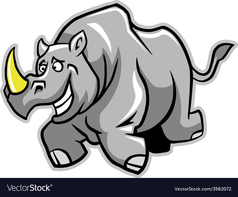 Rhino run vector | Price: 1 Credit (USD $1)