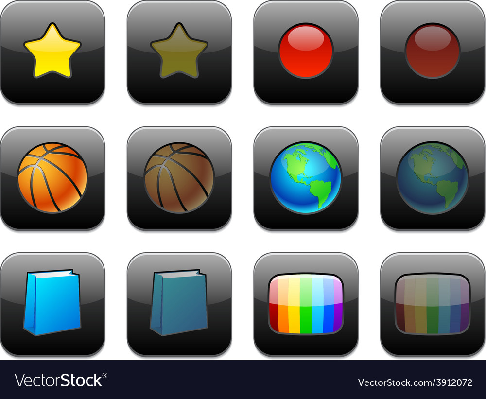 Square modern app icons vector   Price: 1 Credit (USD $1)