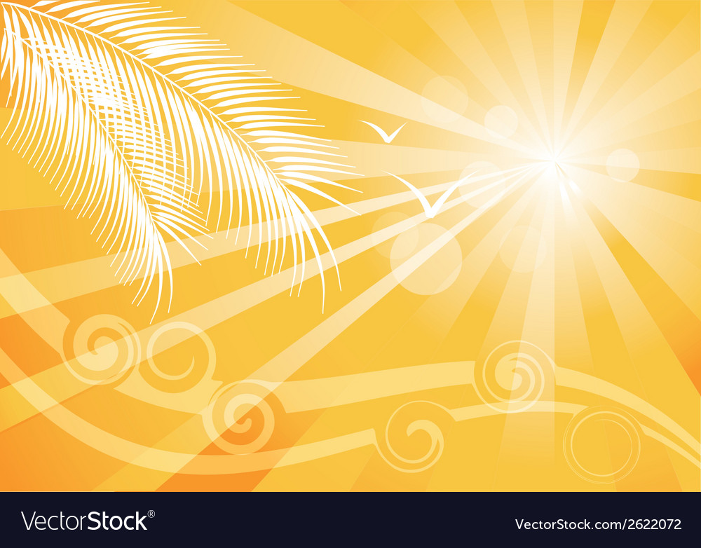 Summer yellow background vector | Price: 1 Credit (USD $1)