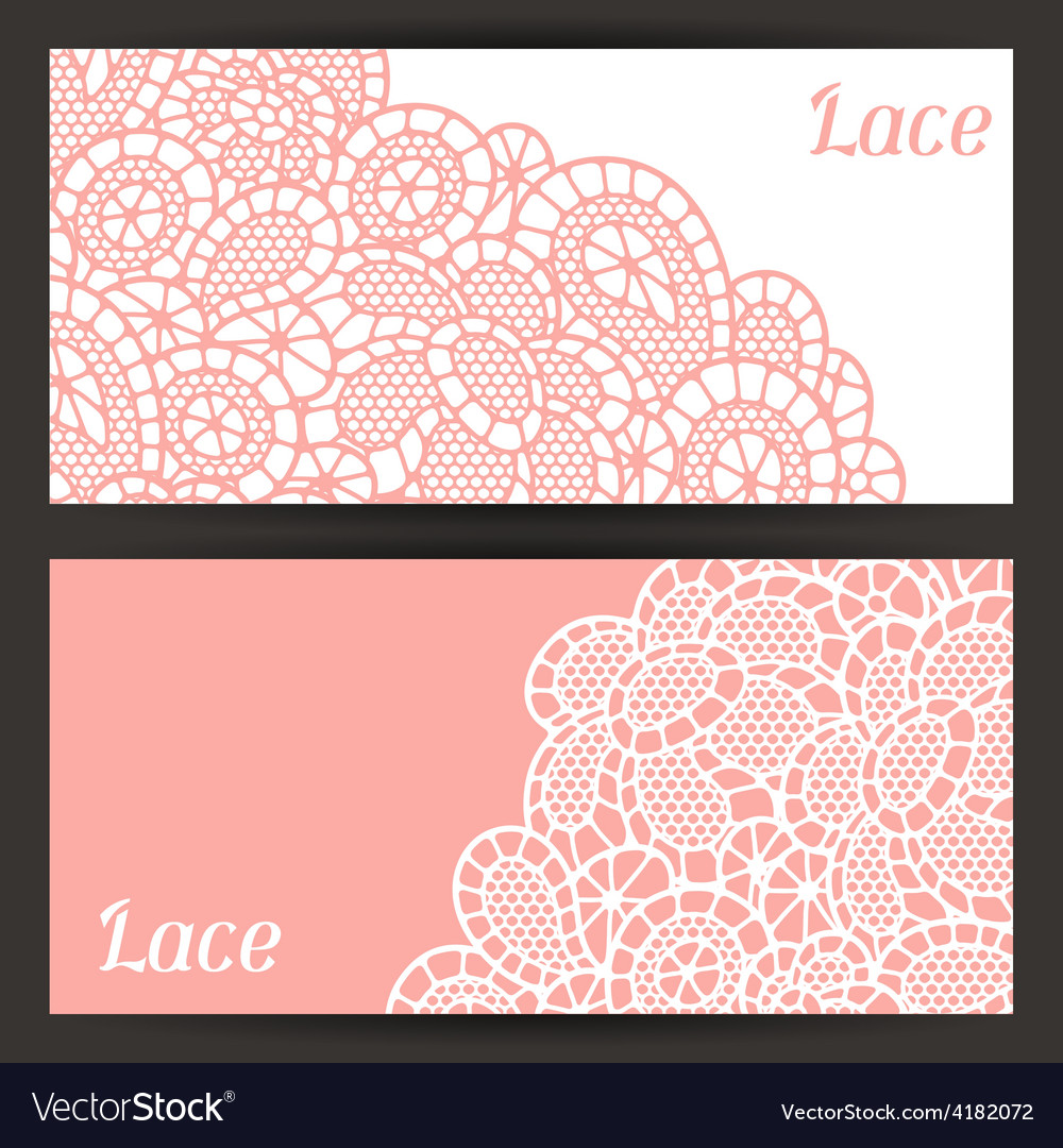 Vintage fashion lace banners with abstract flowers vector | Price: 1 Credit (USD $1)
